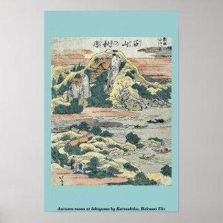 Autumn moon at Ishiyama by Katsushika, Hokusai Uki Print