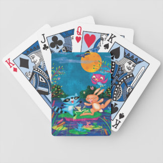 Autumn Moon Bicycle Playing Cards