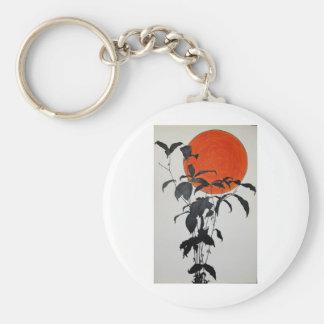 Autumn Moon by Piliero Basic Round Button Key Ring