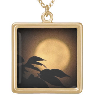 Autumn Moon Gold Plated Necklace