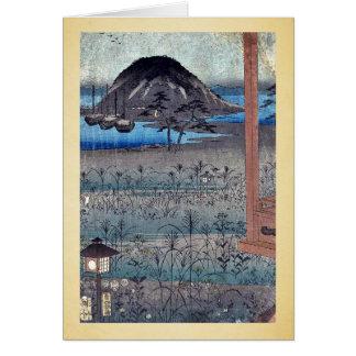 Autumn moon landscape by Ando, Hiroshige Ukiyoe Cards