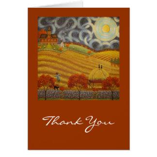 Autumn Moon, Thank You Card