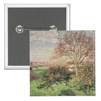 Autumn morning at Eragny, 1897 15 Cm Square Badge
