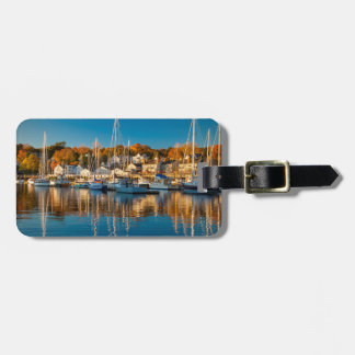 Autumn Morning In The Camden Harbor, Camden 2 Luggage Tag