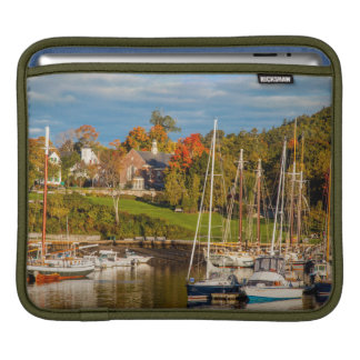Autumn Morning In The Camden Harbor, Camden Sleeve For iPads