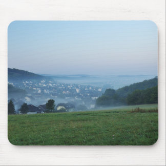 Autumn morning in the winner country mouse pad