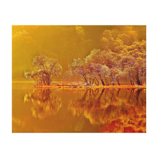 Autumn Morning Reflections Canvas Print
