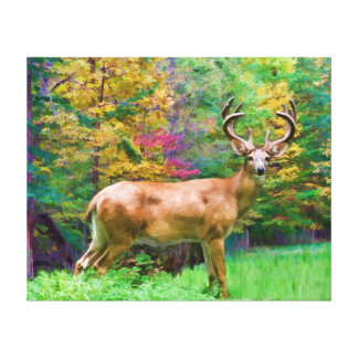 Autumn Morning Wrapped Canvas Stretched Canvas Prints