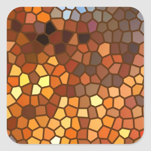 Autumn Mosaic Abstract Sticker