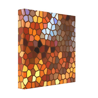 Autumn Mosaic Abstract Stretched Canvas Prints