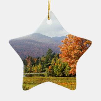 Autumn Mount Mansfield Vermont Christmas Ornament