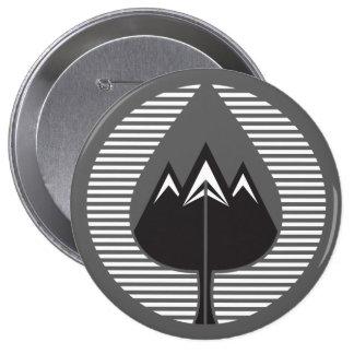 autumn mountains 10 cm round badge