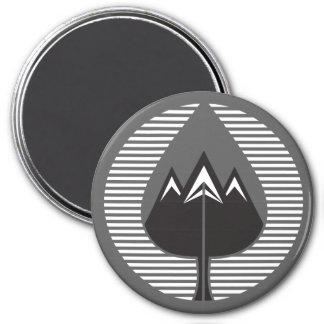 autumn mountains 7.5 cm round magnet