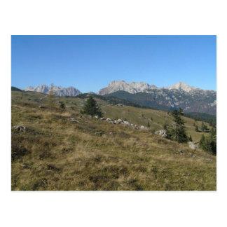 Autumn mountan view postcard