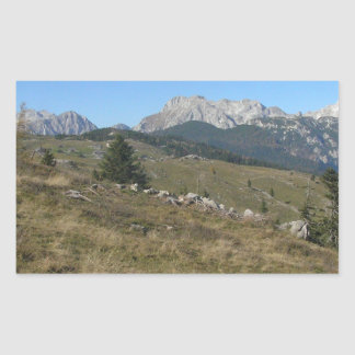 Autumn mountan view rectangular sticker