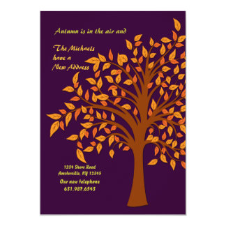 fall moving invitations announcements zazzle co uk