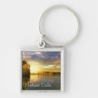 Autumn Nature Calls Key Ring