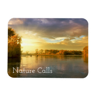 Autumn Nature Calls Rectangular Photo Magnet
