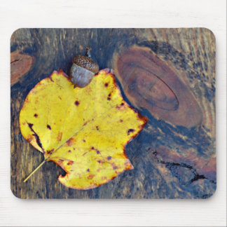Autumn Nature Photography on Wood Mouse Pad