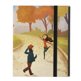 "Autumn New York Happy Art ""Central Park"" Cases For iPad"