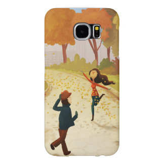 "Autumn New York Happy Art ""Central Park"" Samsung Galaxy S6 Cases"