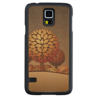 Autumn Night Landscape. Abstract Carved Maple Galaxy S5 Case