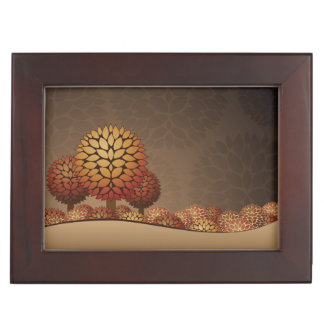 Autumn Night Landscape. Abstract Keepsake Box