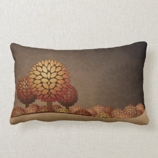 Autumn Night Landscape. Abstract Lumbar Cushion