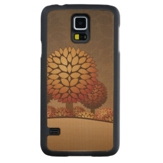 Autumn Night Landscape. Abstract Maple Galaxy S5 Slim Case