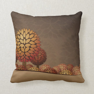Autumn Night Landscape. Abstract Throw Pillow
