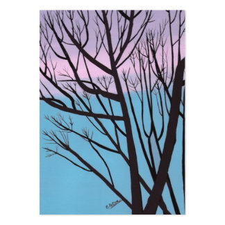 Autumn Night Tree Artist Trading Card Pack Of Chubby Business Cards