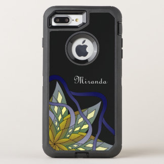 Autumn Night - with Name or Text - OtterBox Defender iPhone 8 Plus/7 Plus Case