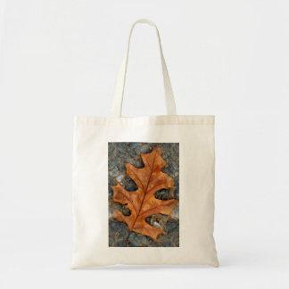 Autumn Oak Leaf on Budget Tote Bag