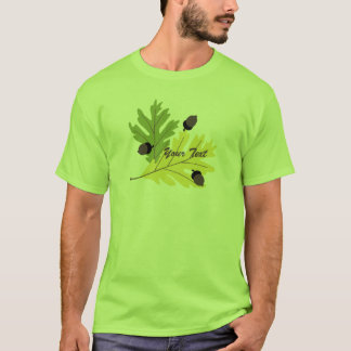 Autumn Oak Leaves and Acorns Fall t-shirt