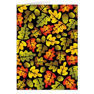 autumn oak leaves card