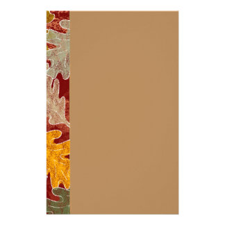 Autumn Oak Leaves Stationery