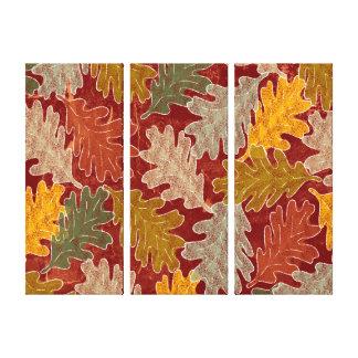 Autumn Oak Leaves Stretched Canvas Prints