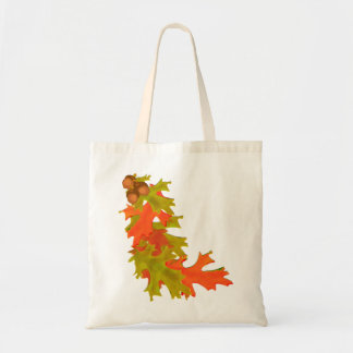 Autumn oak leaves tote bag