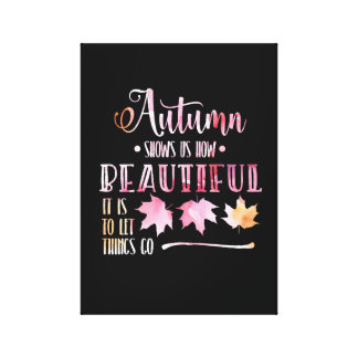 Autumn of leaves, case - Goodbye, poem. Canvas Print