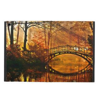 Autumn - Old bridge in autumn misty park Cover For iPad Air