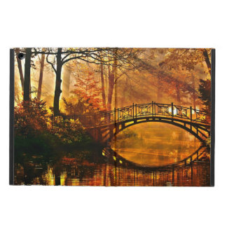 Autumn - Old bridge in autumn misty park iPad Air Covers