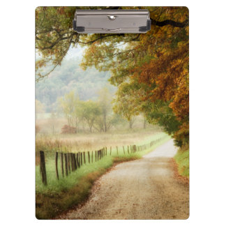 Autumn on a Country Road Clipboard