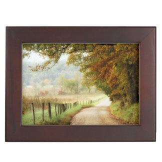 Autumn on a Country Road Keepsake Box