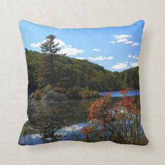 Autumn On Lake Cushion
