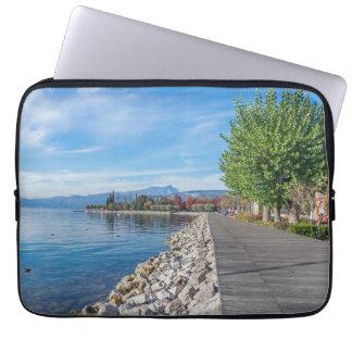 Autumn on Lake Garda laptop sleeve