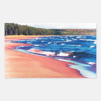 Autumn On Lake Superior Rectangle Sticker