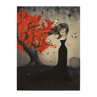 Autumn On Melancholy Hill Wood Prints