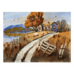 Autumn On Olde Hill Lane Poster