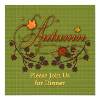 Autumn or Thanksgiving Dinner Party Invite