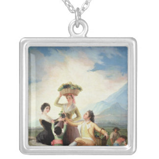 Autumn, or The Grape Harvest, 1786-87 Silver Plated Necklace